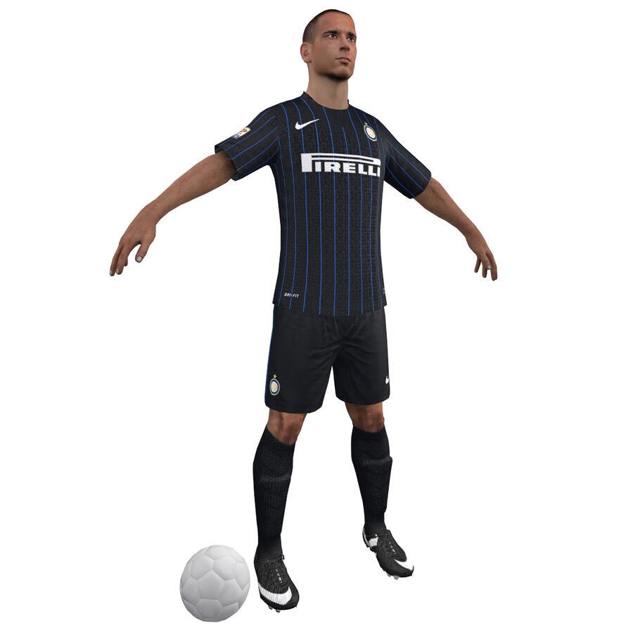 Fotbollsspelare INT riggad royalty-free 3d model - Preview no. 5