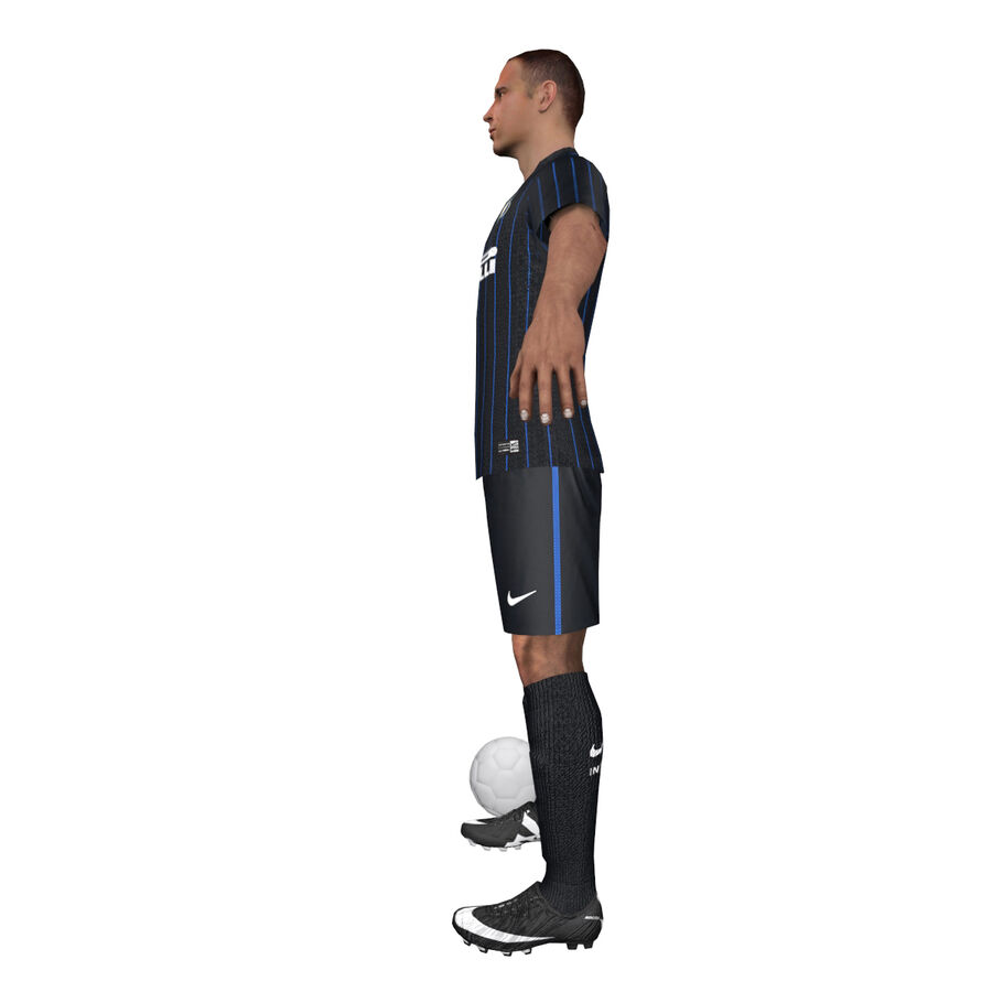 Fotbollsspelare INT riggad royalty-free 3d model - Preview no. 8