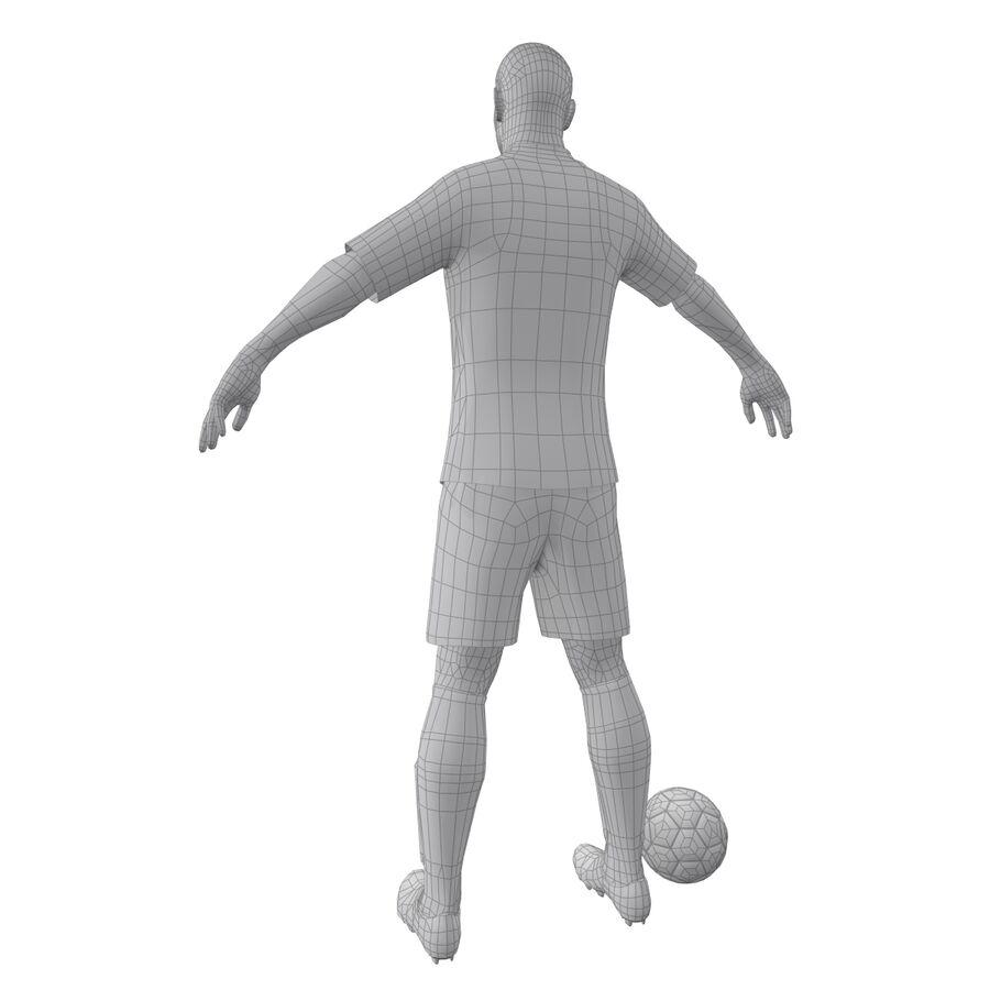 Fotbollsspelare INT riggad royalty-free 3d model - Preview no. 18