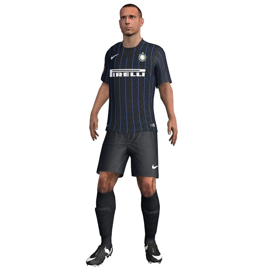 Fotbollsspelare INT riggad royalty-free 3d model - Preview no. 2