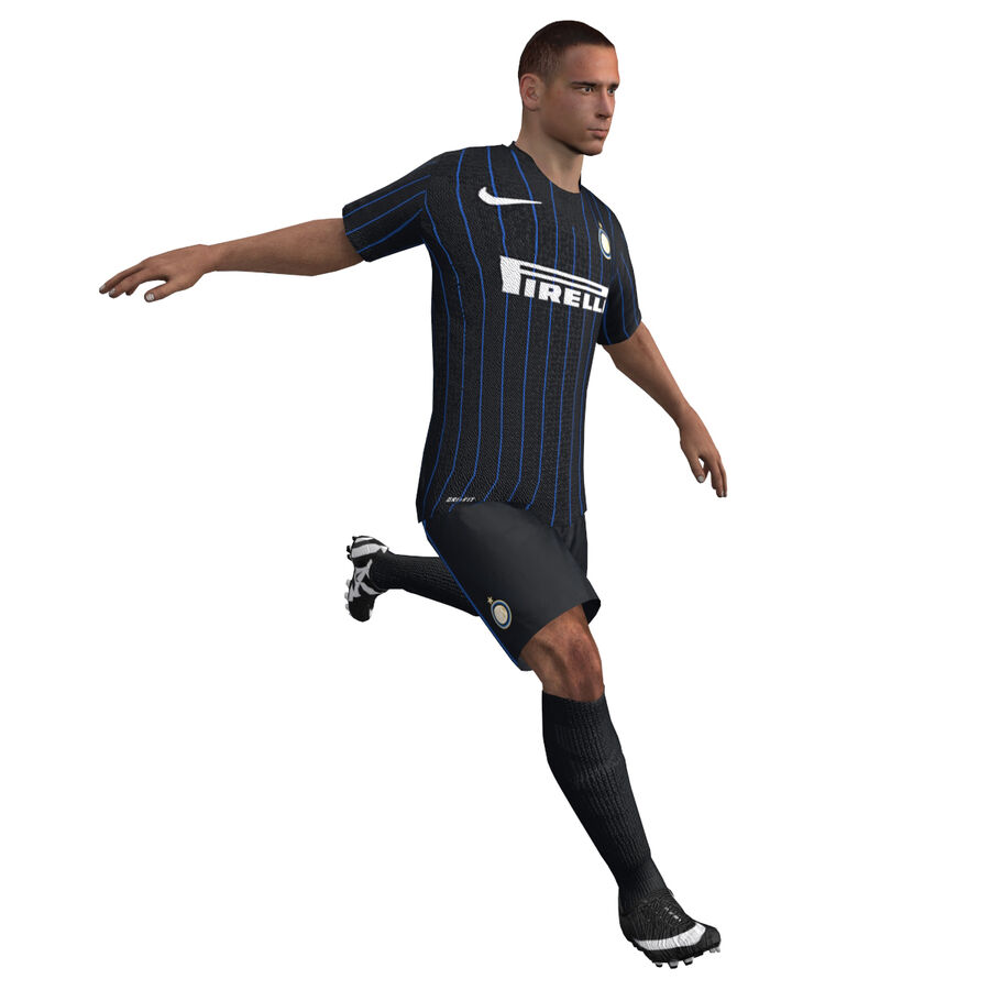 Fotbollsspelare INT riggad royalty-free 3d model - Preview no. 1