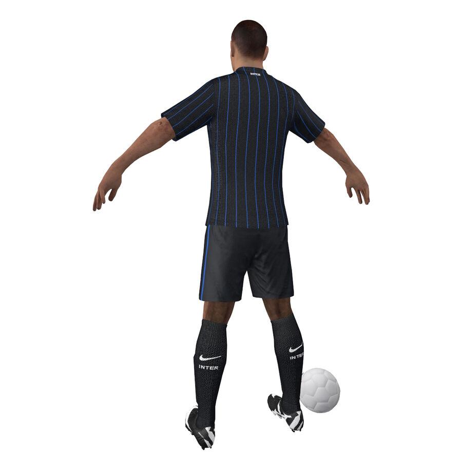 Fotbollsspelare INT riggad royalty-free 3d model - Preview no. 9