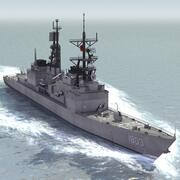 Tajwański niszczyciel marynarki wojennej 3d model