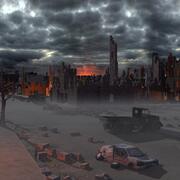 Разрушенный город ст02 3d model