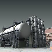 Rafineria i fabryka i przemysł 3d model