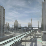 Sci Fi City Futuristic Cityscape 3d model