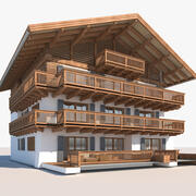Apartment Building Tyrolean 15 3d model