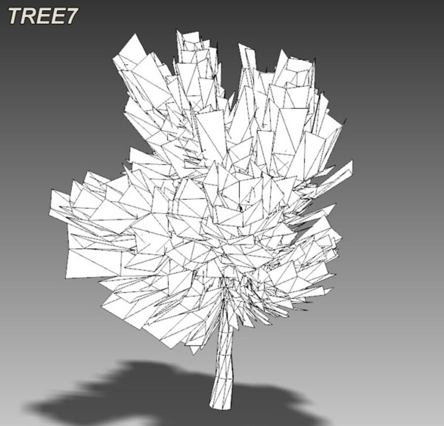 Tree Plant Pack royalty-free 3d model - Preview no. 100