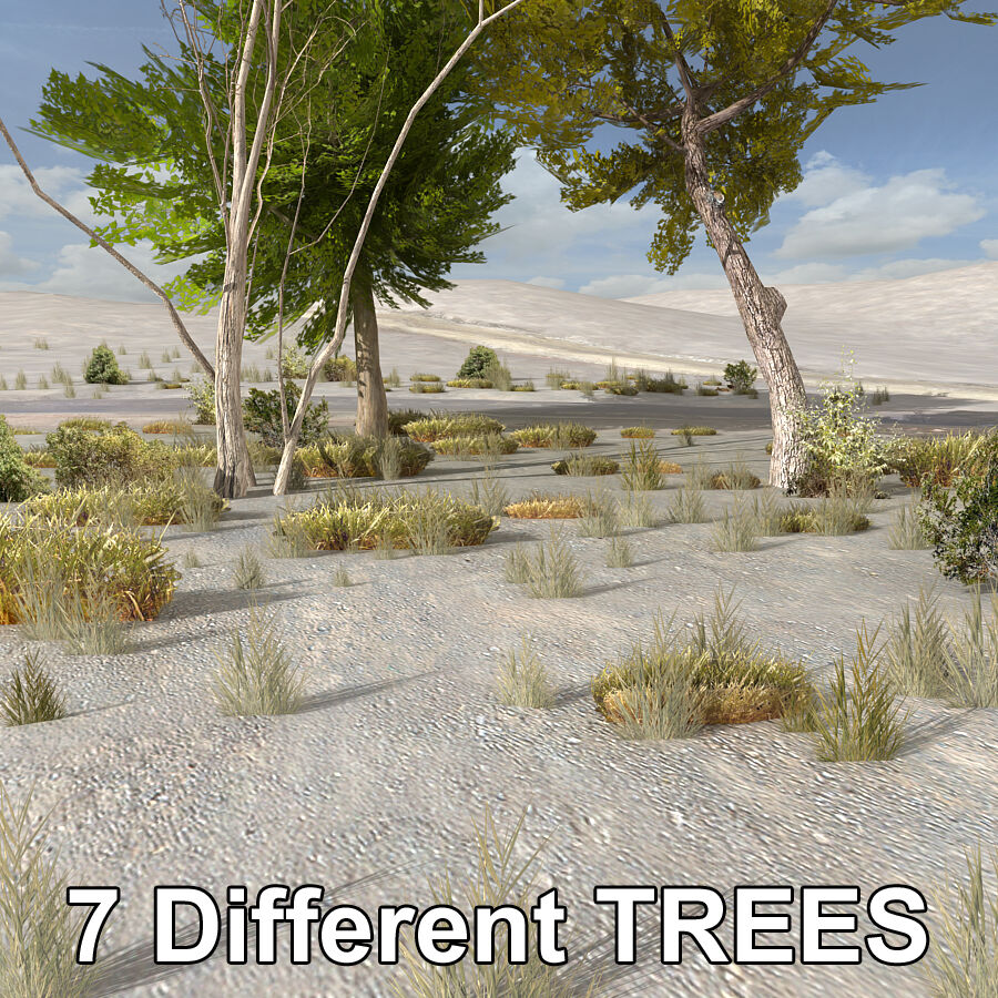 Tree Plant Pack royalty-free 3d model - Preview no. 4