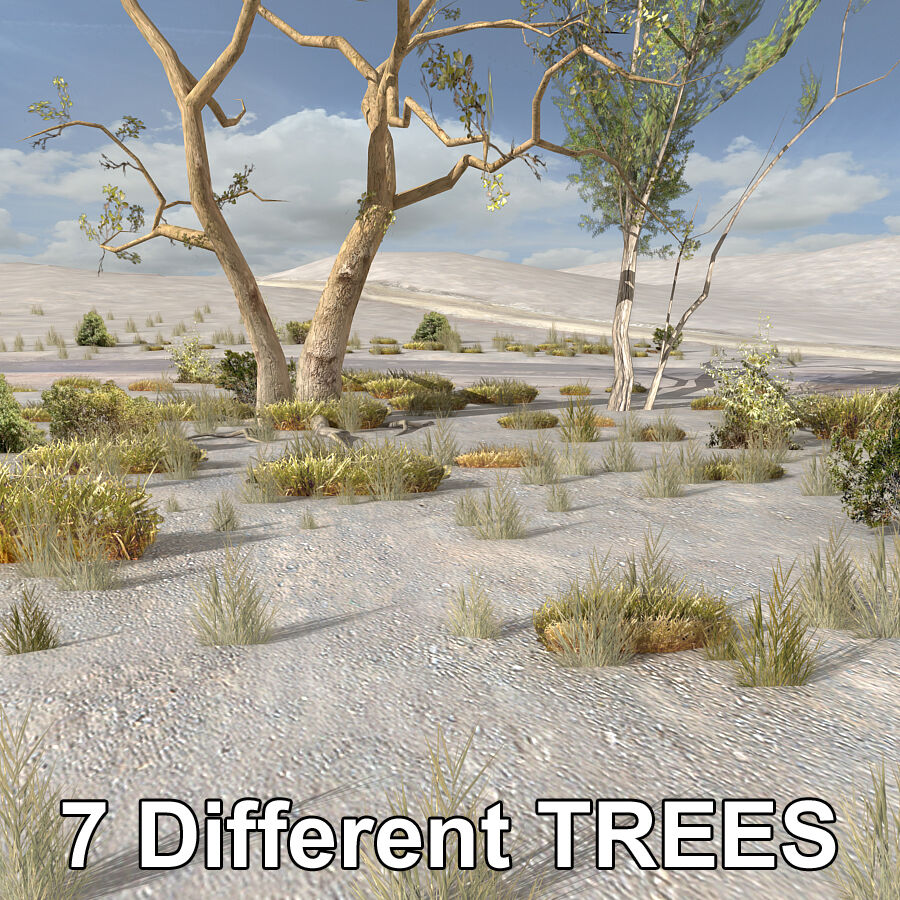 Tree Plant Pack royalty-free 3d model - Preview no. 3