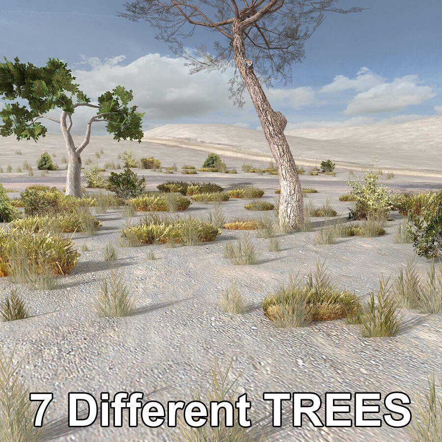 Tree Plant Pack royalty-free 3d model - Preview no. 2