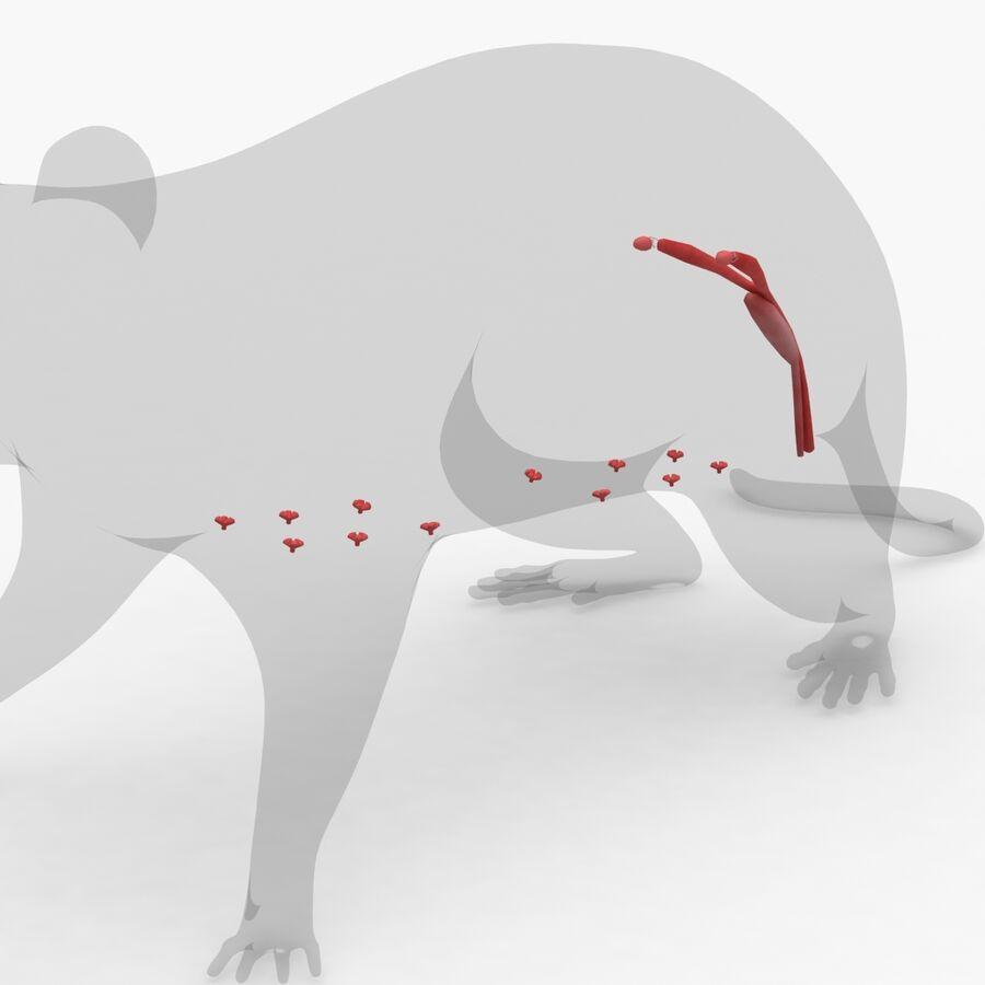 Текстурированная анатомия самцов и самок крыс royalty-free 3d model - Preview no. 12