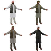Arab men PACK 3 3d model