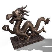アジアの中国のドラゴン像 3d model