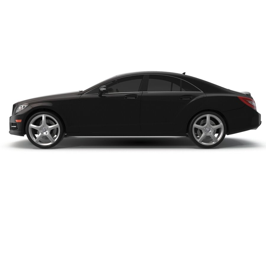 Mercedes-Benz CLS-Class Coupe 2014 Car Without Interior royalty-free 3d model - Preview no. 6