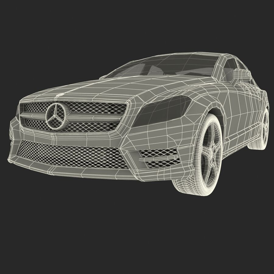 Mercedes-Benz CLS-Class Coupe 2014 Car Without Interior royalty-free 3d model - Preview no. 34