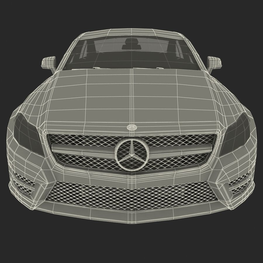 Mercedes-Benz CLS-Class Coupe 2014 Car Without Interior royalty-free 3d model - Preview no. 30