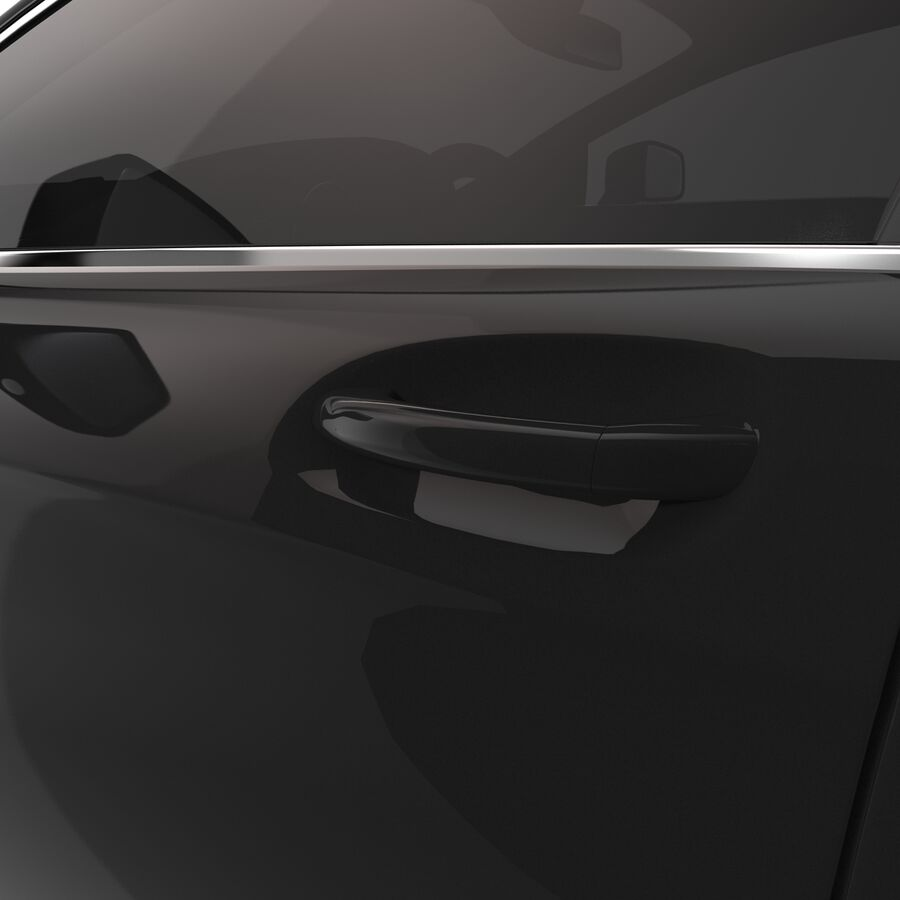 Mercedes-Benz CLS-Class Coupe 2014 Car Without Interior royalty-free 3d model - Preview no. 18