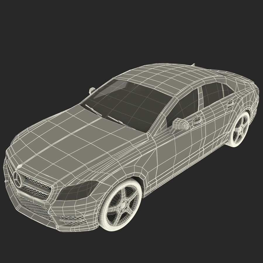Mercedes-Benz CLS-Class Coupe 2014 Car Without Interior royalty-free 3d model - Preview no. 33