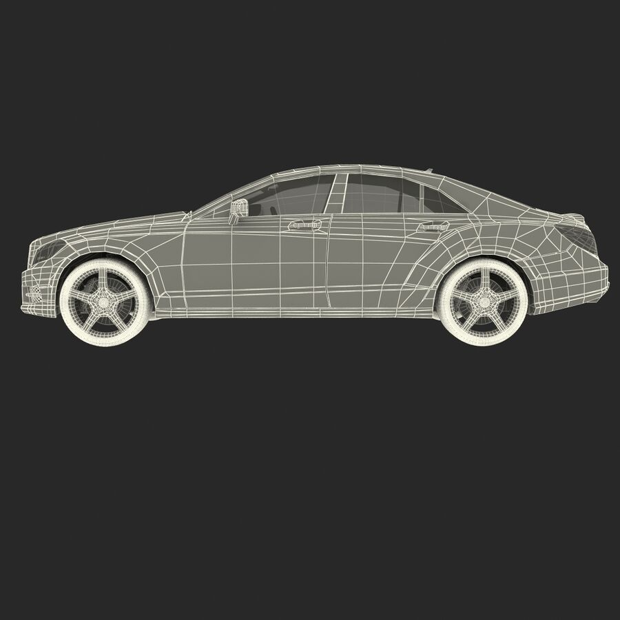 Mercedes-Benz CLS-Class Coupe 2014 Car Without Interior royalty-free 3d model - Preview no. 32