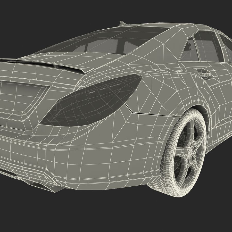 Mercedes-Benz CLS-Class Coupe 2014 Car Without Interior royalty-free 3d model - Preview no. 43