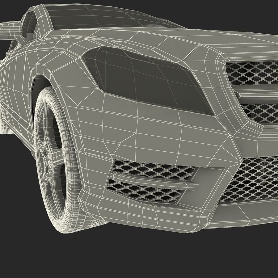 Mercedes-Benz CLS-Class Coupe 2014 Car Without Interior royalty-free 3d model - Preview no. 46