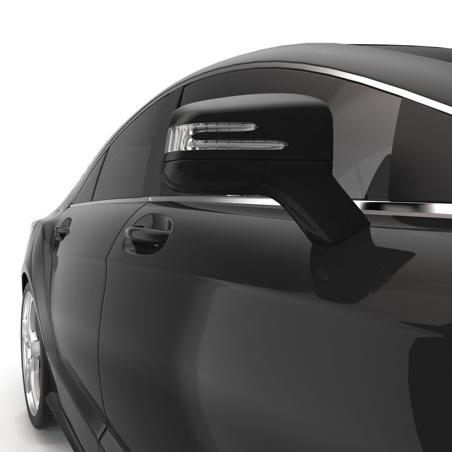 Mercedes-Benz CLS-Class Coupe 2014 Car Without Interior royalty-free 3d model - Preview no. 16