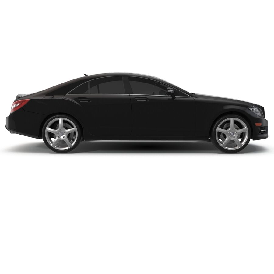 Mercedes-Benz CLS-Class Coupe 2014 Car Without Interior royalty-free 3d model - Preview no. 5