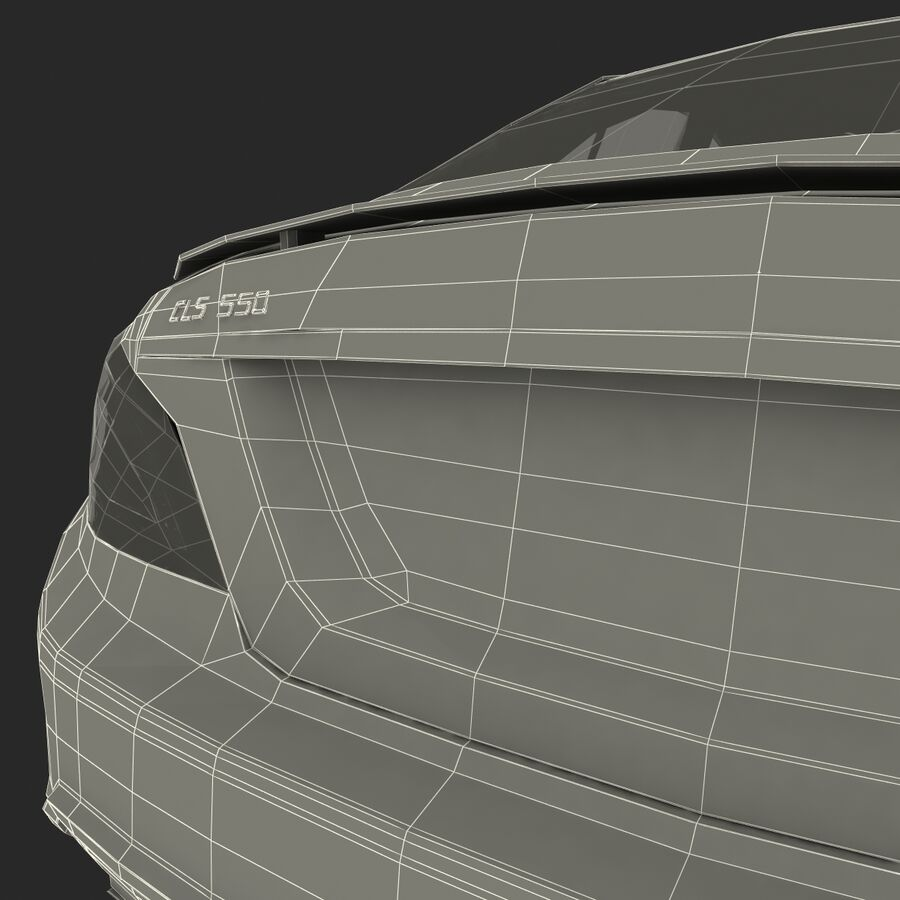 Mercedes-Benz CLS-Class Coupe 2014 Car Without Interior royalty-free 3d model - Preview no. 44