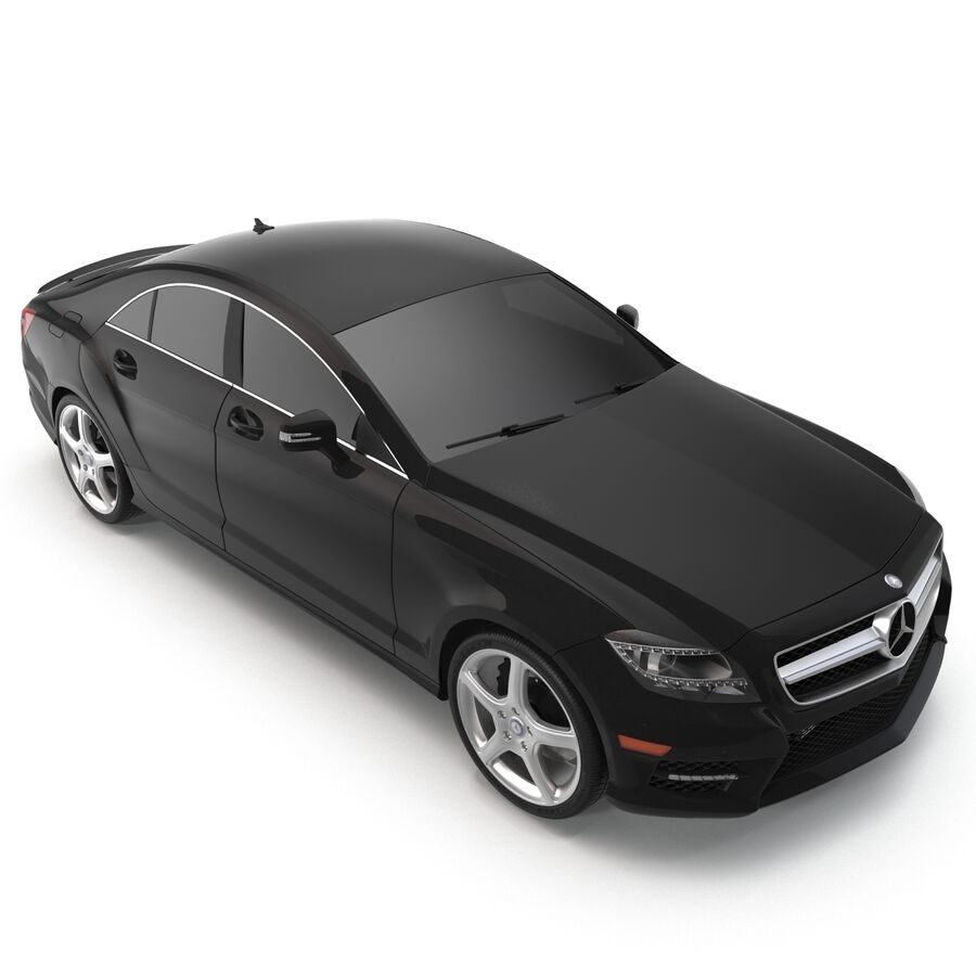 Mercedes-Benz CLS-Class Coupe 2014 Car Without Interior royalty-free 3d model - Preview no. 9