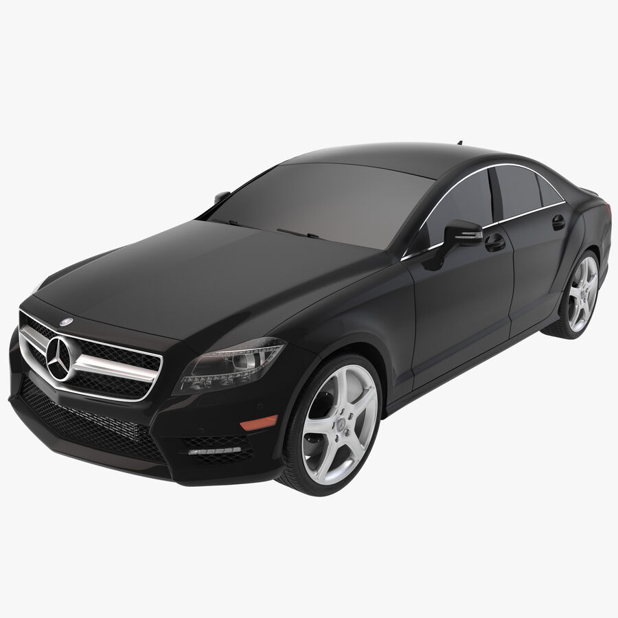 Mercedes-Benz CLS-Class Coupe 2014 Car Without Interior royalty-free 3d model - Preview no. 1