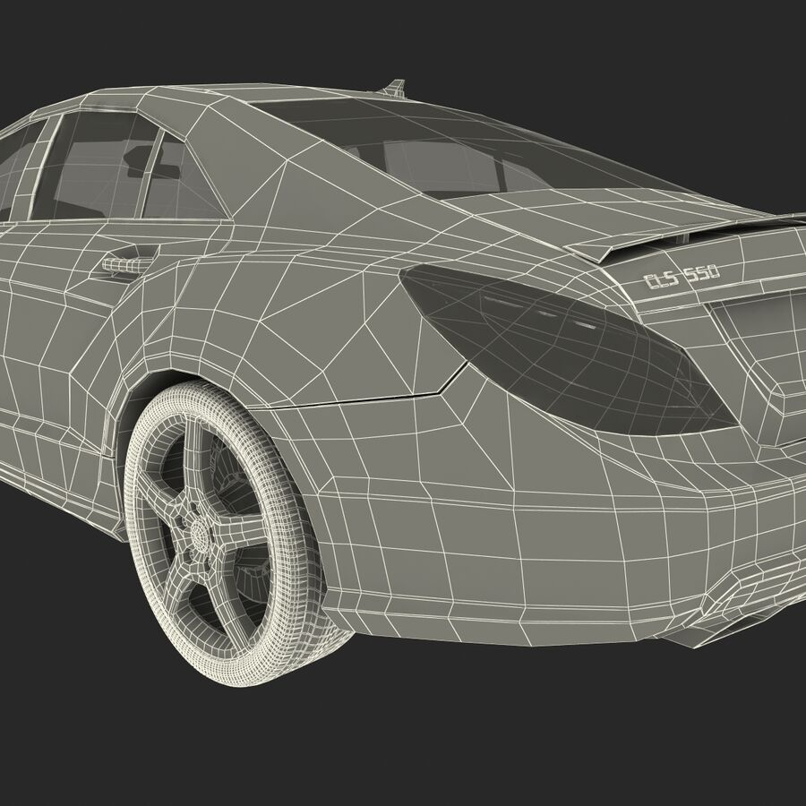 Mercedes-Benz CLS-Class Coupe 2014 Car Without Interior royalty-free 3d model - Preview no. 42