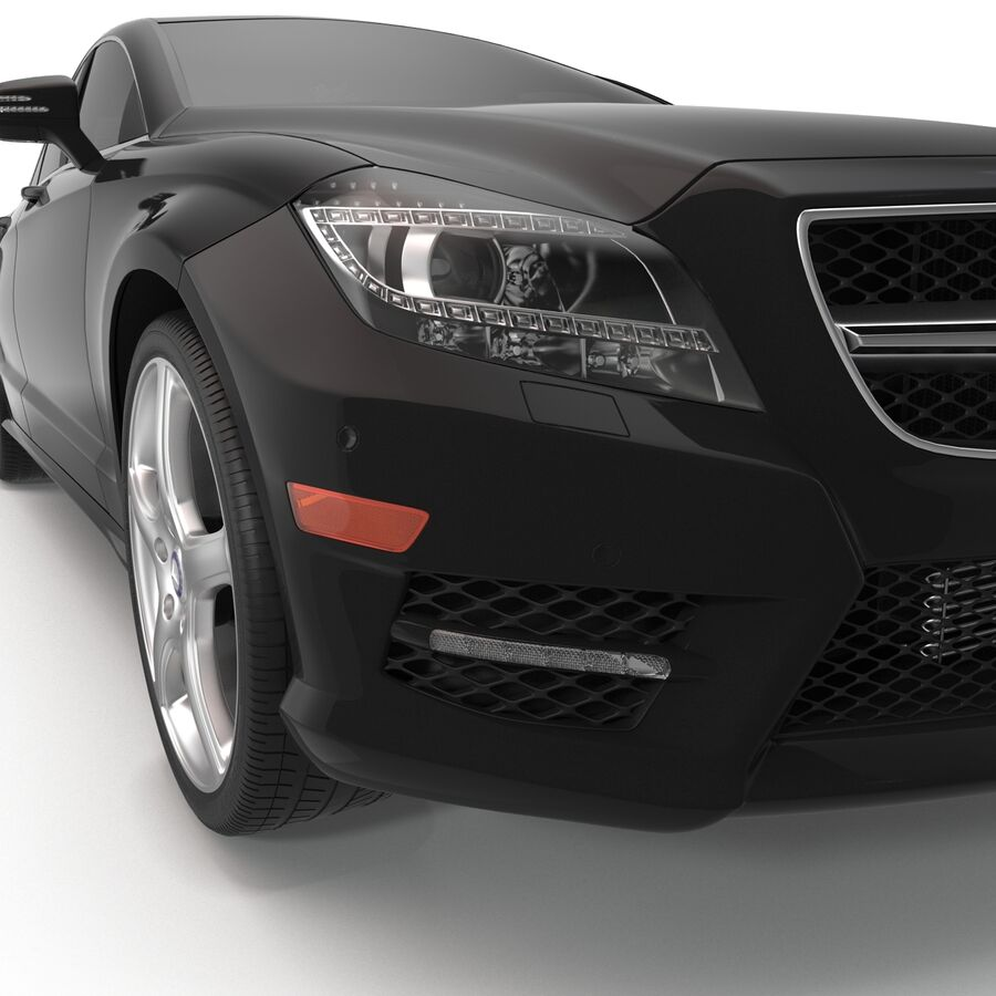 Mercedes-Benz CLS-Class Coupe 2014 Car Without Interior royalty-free 3d model - Preview no. 17