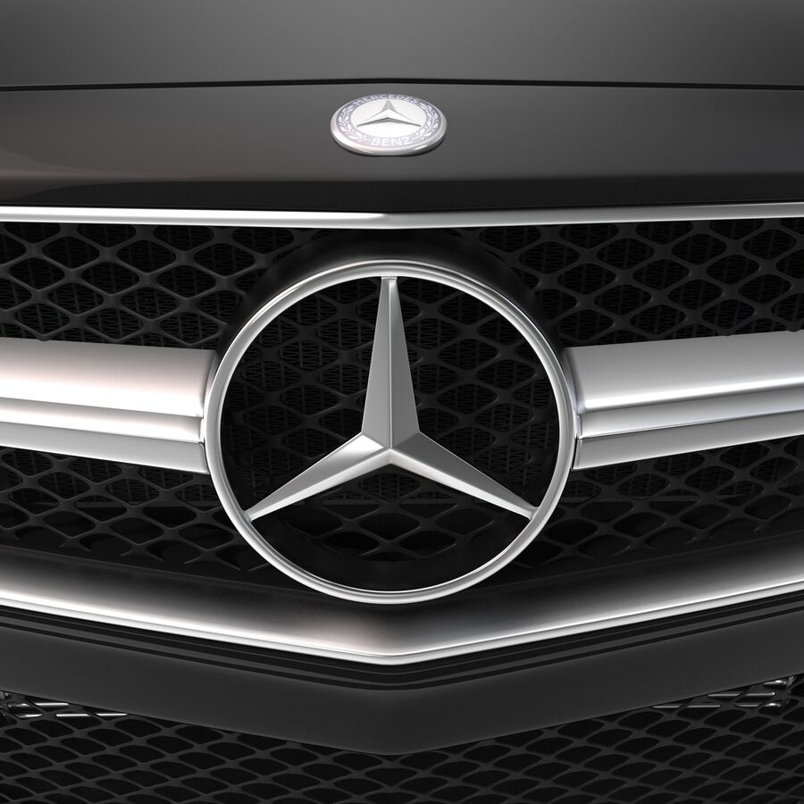 Mercedes-Benz CLS-Class Coupe 2014 Car Without Interior royalty-free 3d model - Preview no. 22