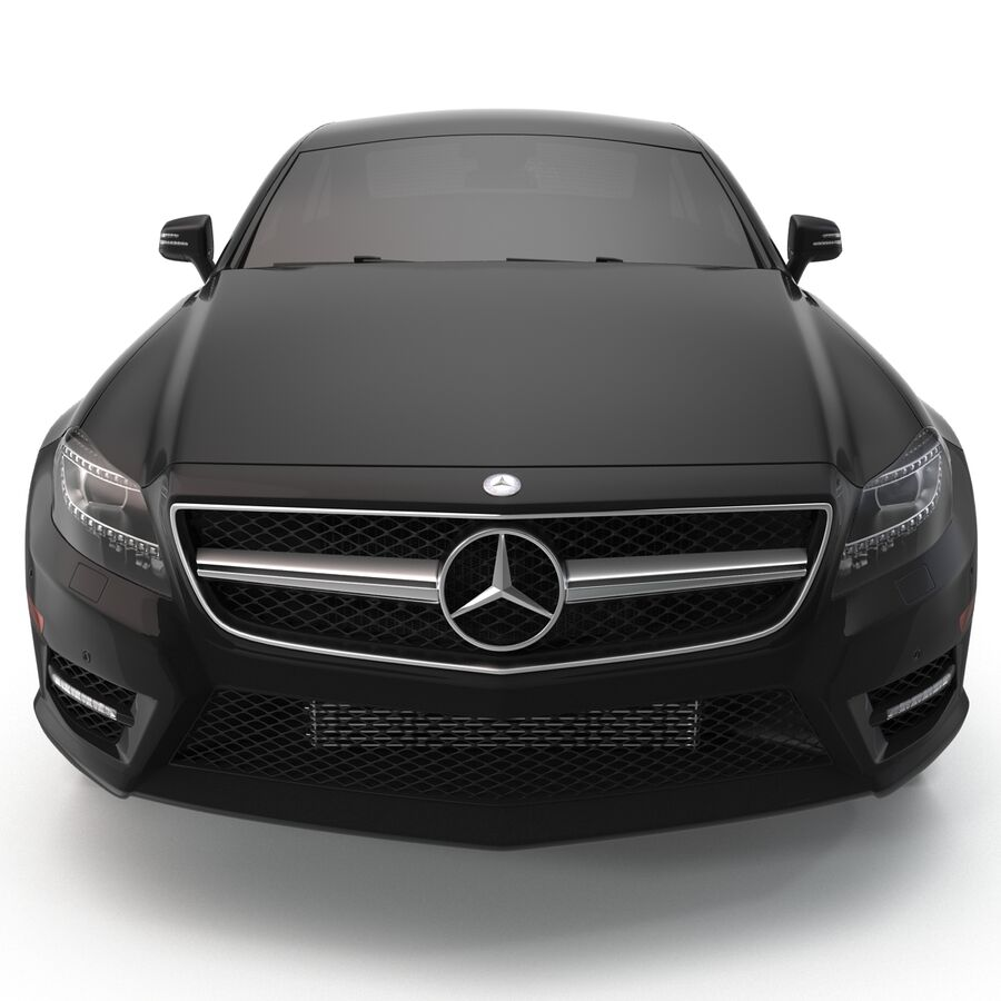 Mercedes-Benz CLS-Class Coupe 2014 Car Without Interior royalty-free 3d model - Preview no. 3