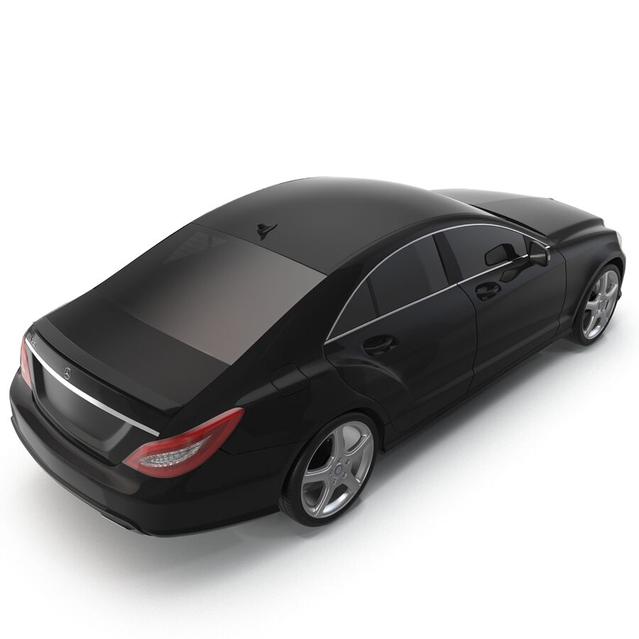 Mercedes-Benz CLS-Class Coupe 2014 Car Without Interior royalty-free 3d model - Preview no. 10