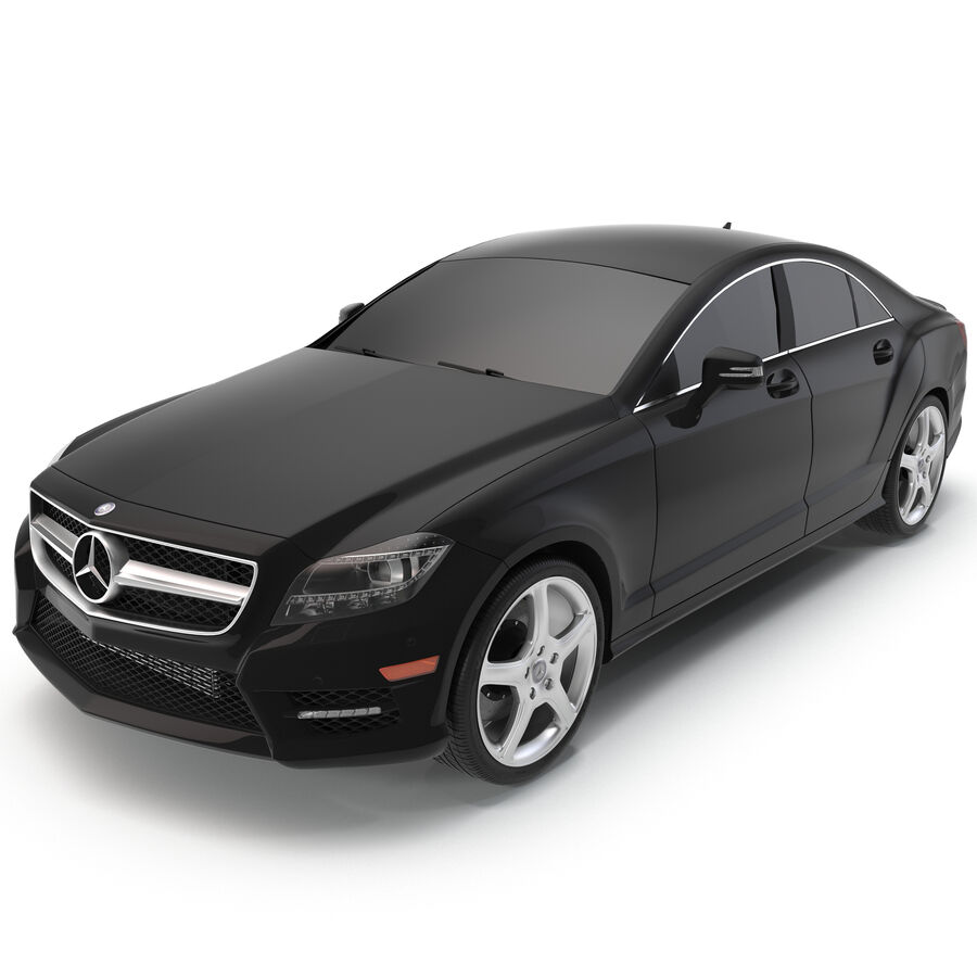 Mercedes-Benz CLS-Class Coupe 2014 Car Without Interior royalty-free 3d model - Preview no. 2