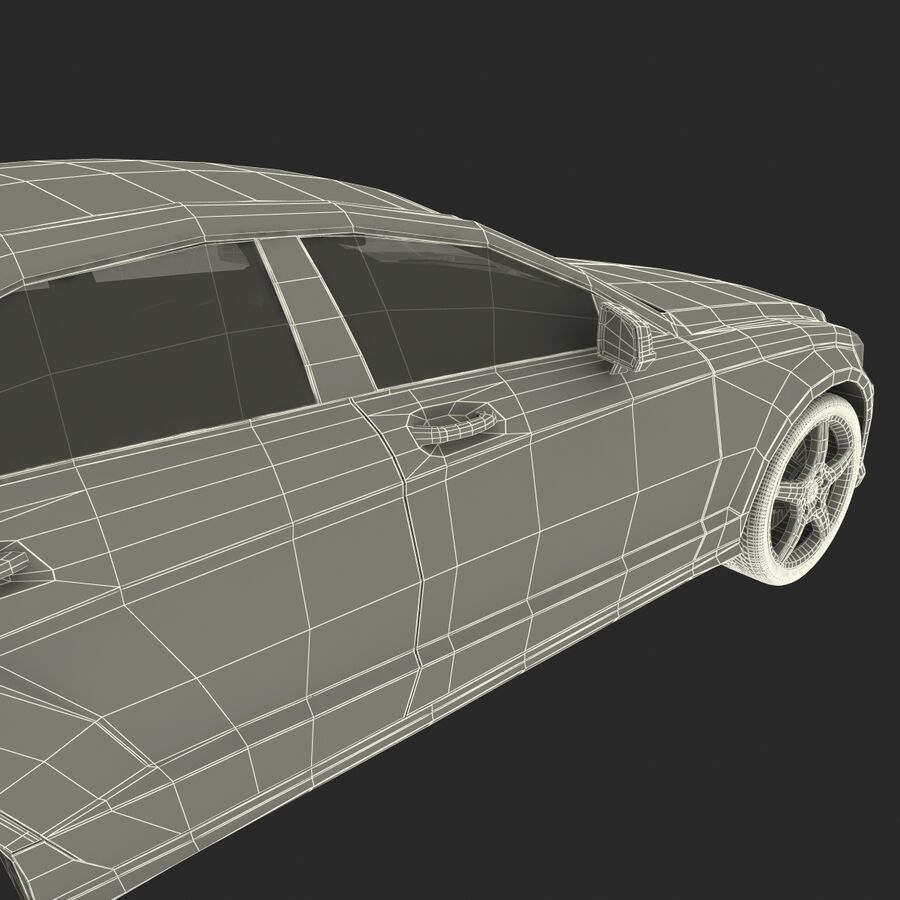 Mercedes-Benz CLS-Class Coupe 2014 Car Without Interior royalty-free 3d model - Preview no. 49