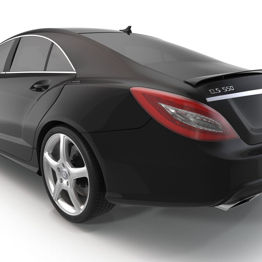 Mercedes-Benz CLS-Class Coupe 2014 Car Without Interior royalty-free 3d model - Preview no. 13