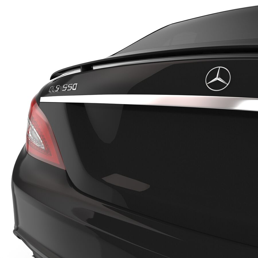 Mercedes-Benz CLS-Class Coupe 2014 Car Without Interior royalty-free 3d model - Preview no. 15