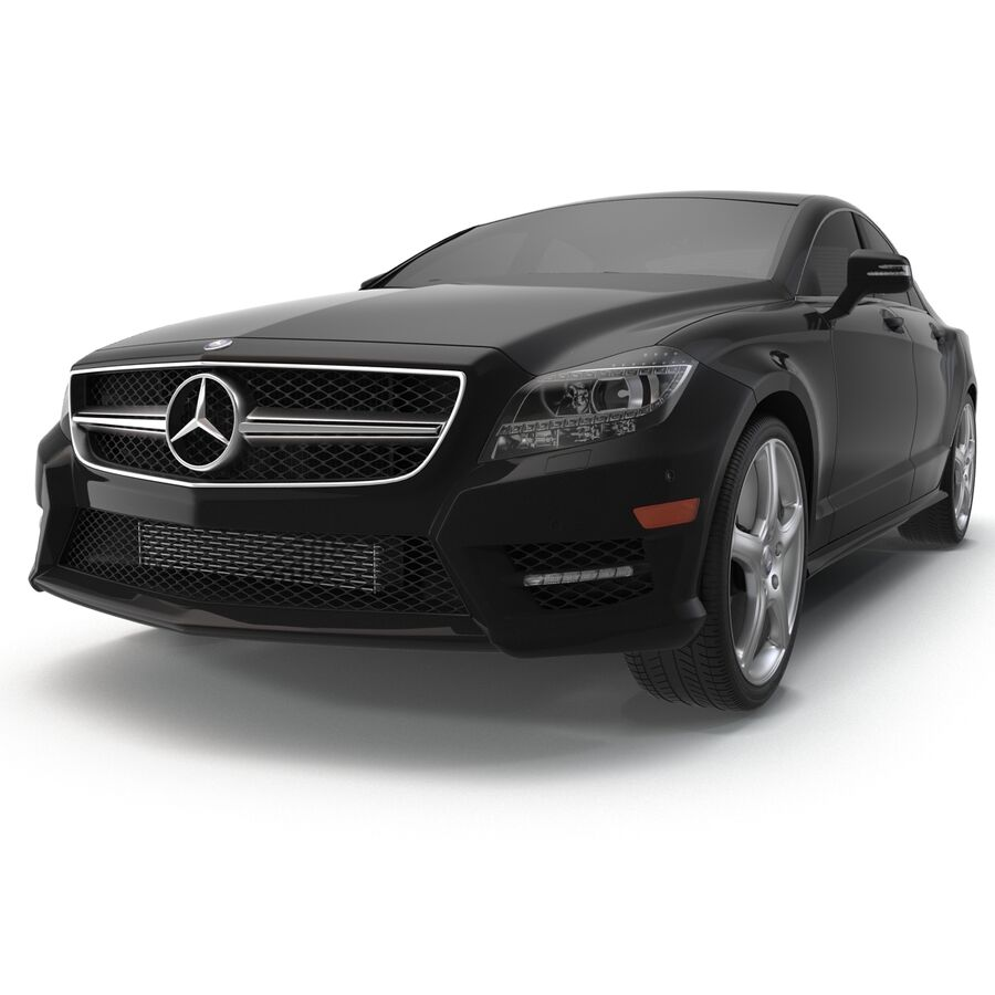 Mercedes-Benz CLS-Class Coupe 2014 Car Without Interior royalty-free 3d model - Preview no. 8