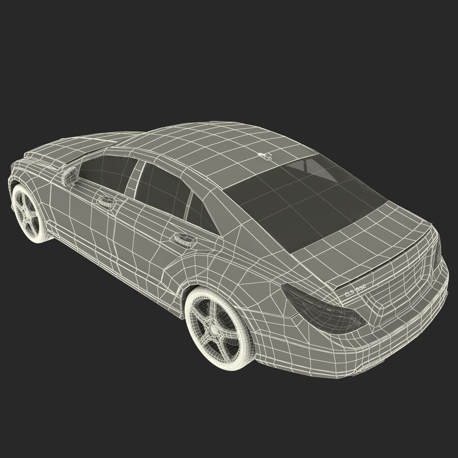 Mercedes-Benz CLS-Class Coupe 2014 Car Without Interior royalty-free 3d model - Preview no. 36