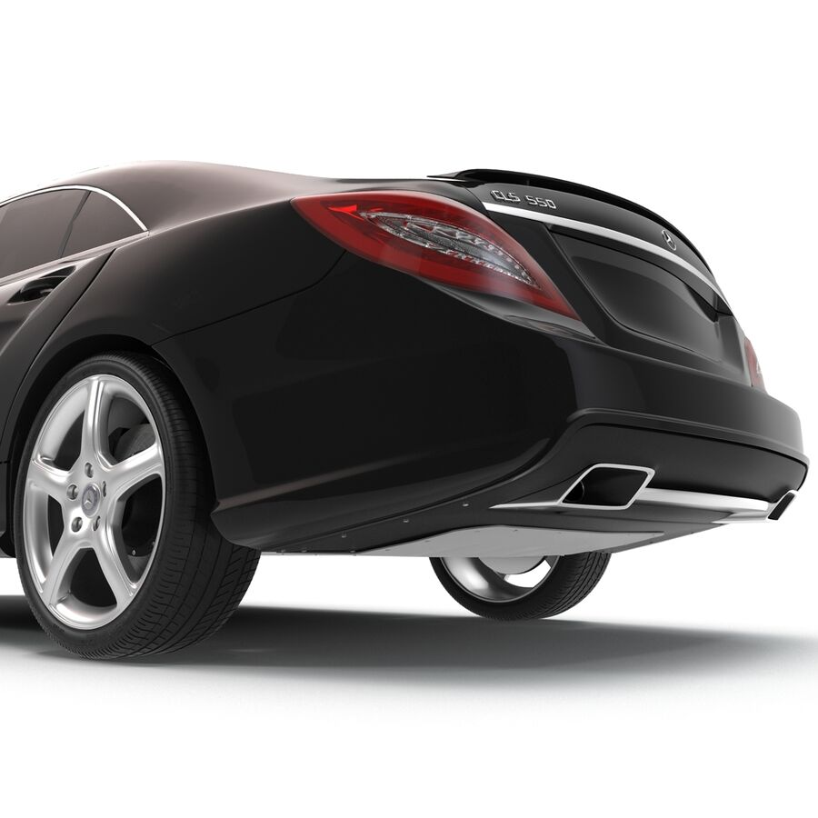 Mercedes-Benz CLS-Class Coupe 2014 Car Without Interior royalty-free 3d model - Preview no. 28