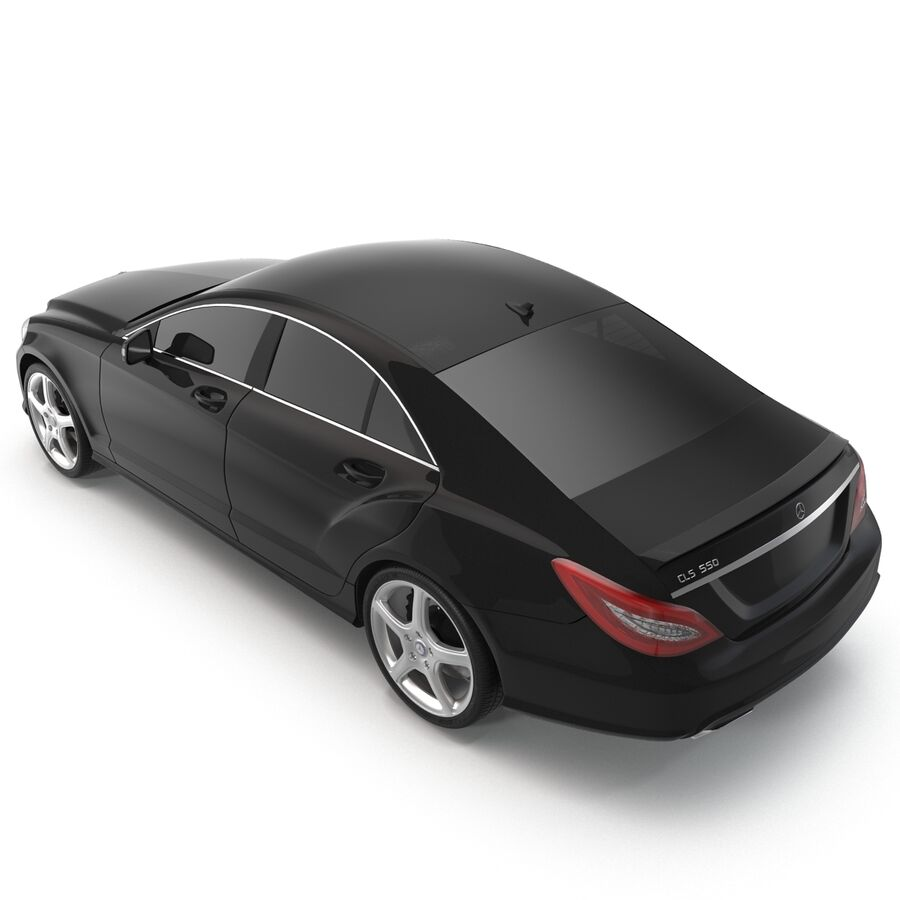 Mercedes-Benz CLS-Class Coupe 2014 Car Without Interior royalty-free 3d model - Preview no. 11