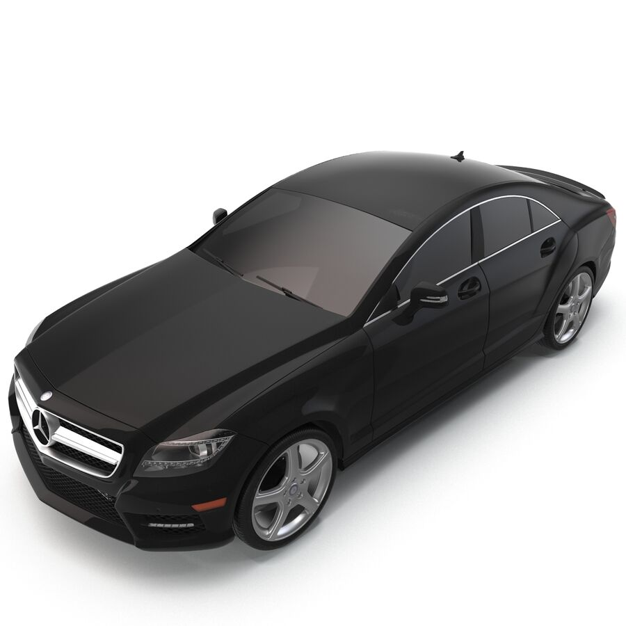Mercedes-Benz CLS-Class Coupe 2014 Car Without Interior royalty-free 3d model - Preview no. 7