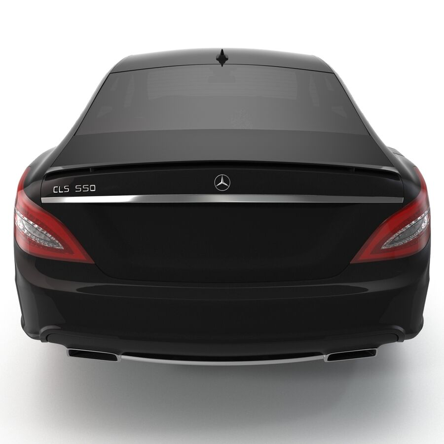 Mercedes-Benz CLS-Class Coupe 2014 Car Without Interior royalty-free 3d model - Preview no. 4