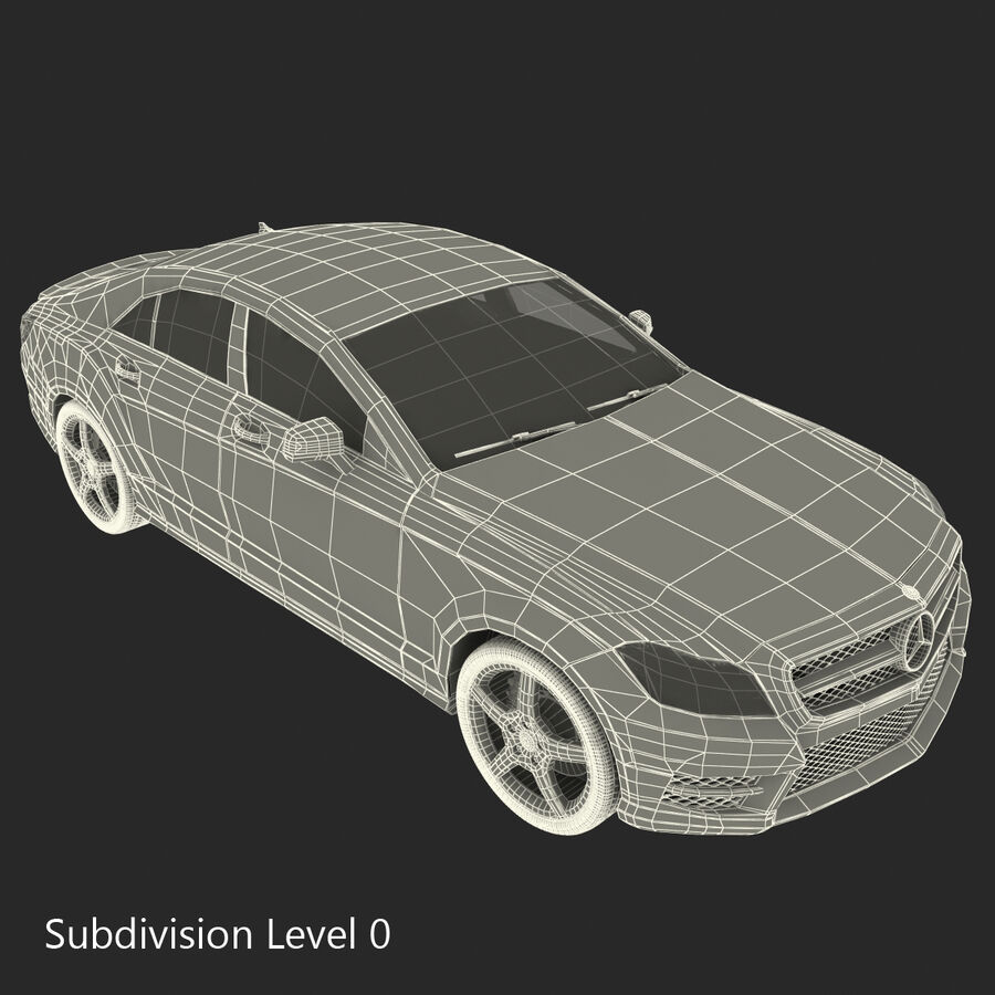 Mercedes-Benz CLS-Class Coupe 2014 Car Without Interior royalty-free 3d model - Preview no. 50