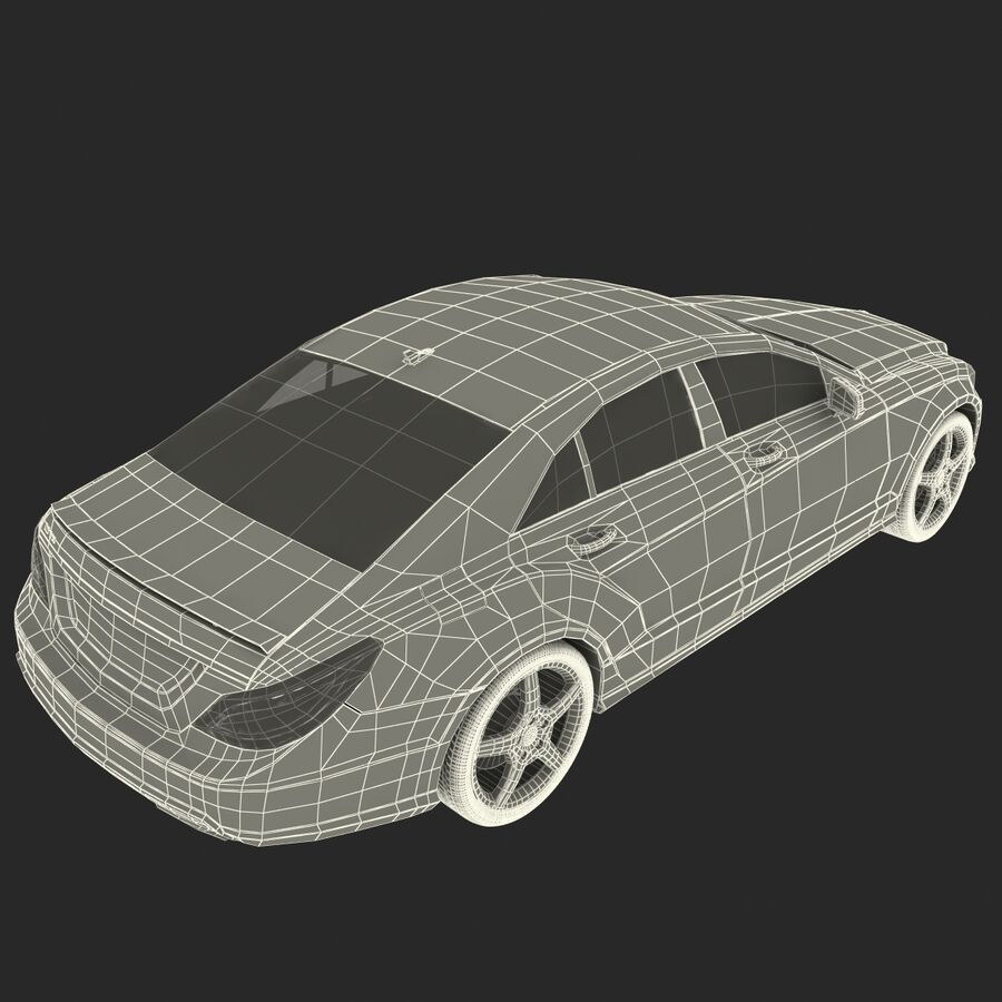 Mercedes-Benz CLS-Class Coupe 2014 Car Without Interior royalty-free 3d model - Preview no. 35
