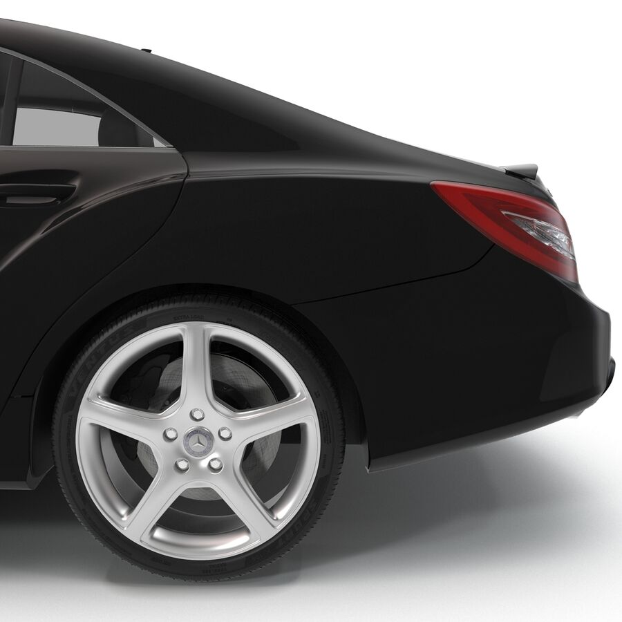 Mercedes-Benz CLS-Class Coupe 2014 Car Without Interior royalty-free 3d model - Preview no. 26