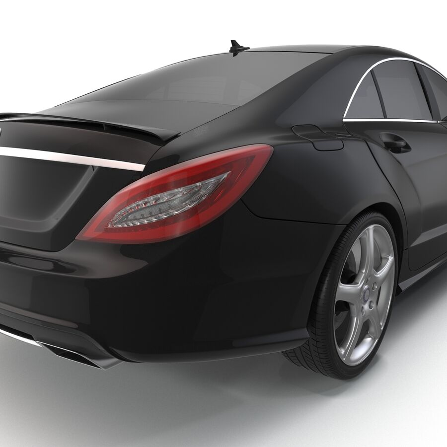 Mercedes-Benz CLS-Class Coupe 2014 Car Without Interior royalty-free 3d model - Preview no. 14